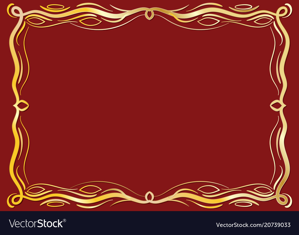 antique frame. Gold Antique Frame With Laces Royalty Free Vector Image E