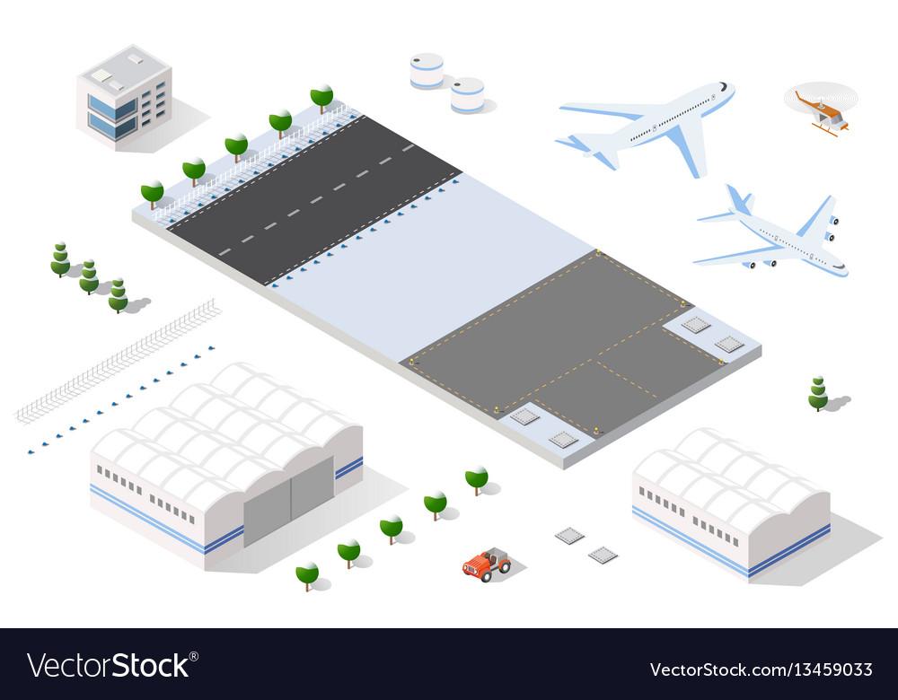 Isometric 3d airstrip