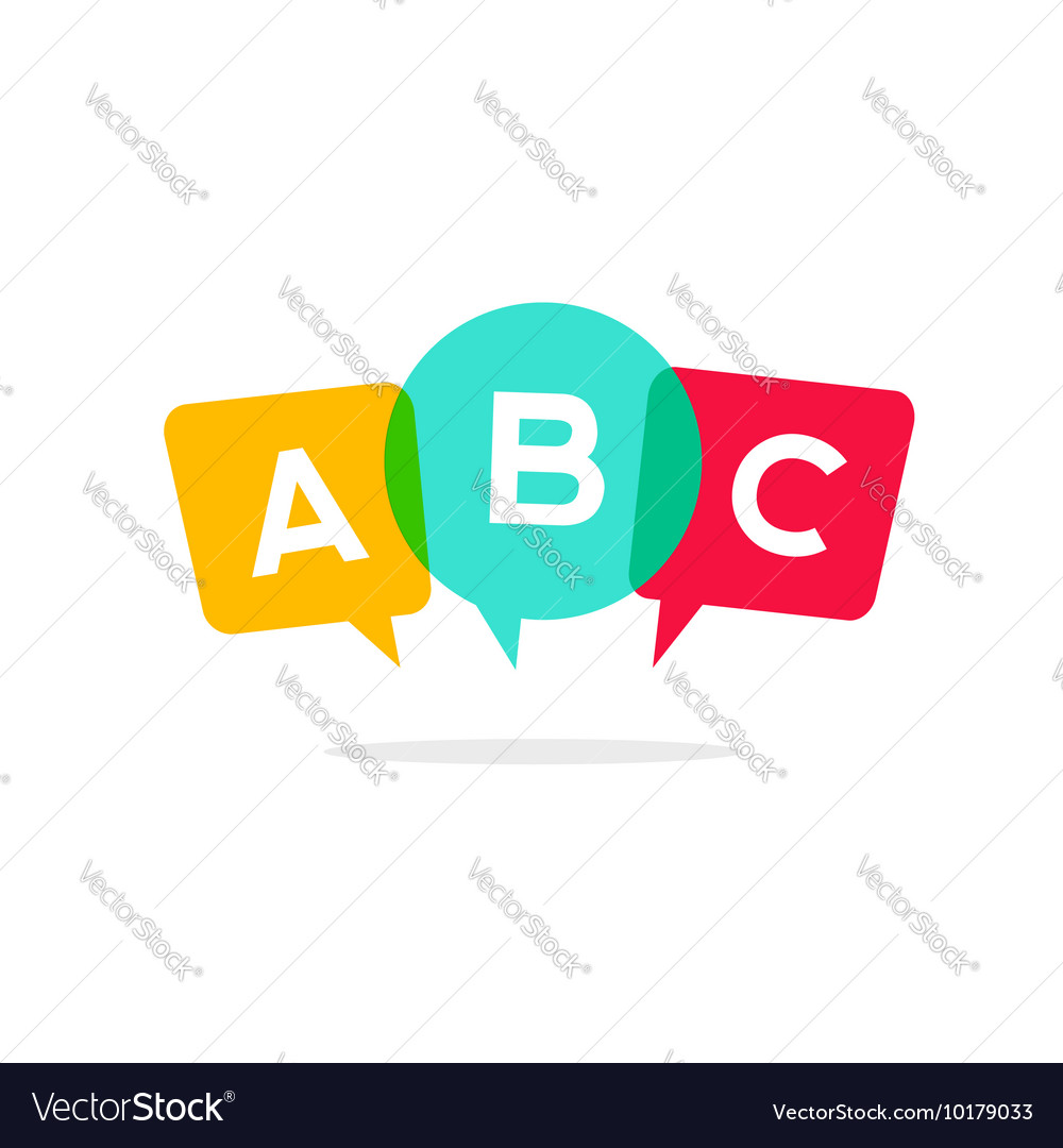 Learn ABC letters icon child speaking vector image