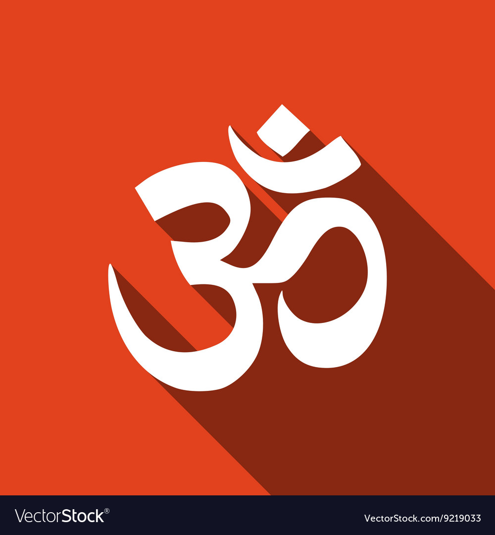 Sign Om Symbol Of Buddhism And Hinduism Religions Vector Image