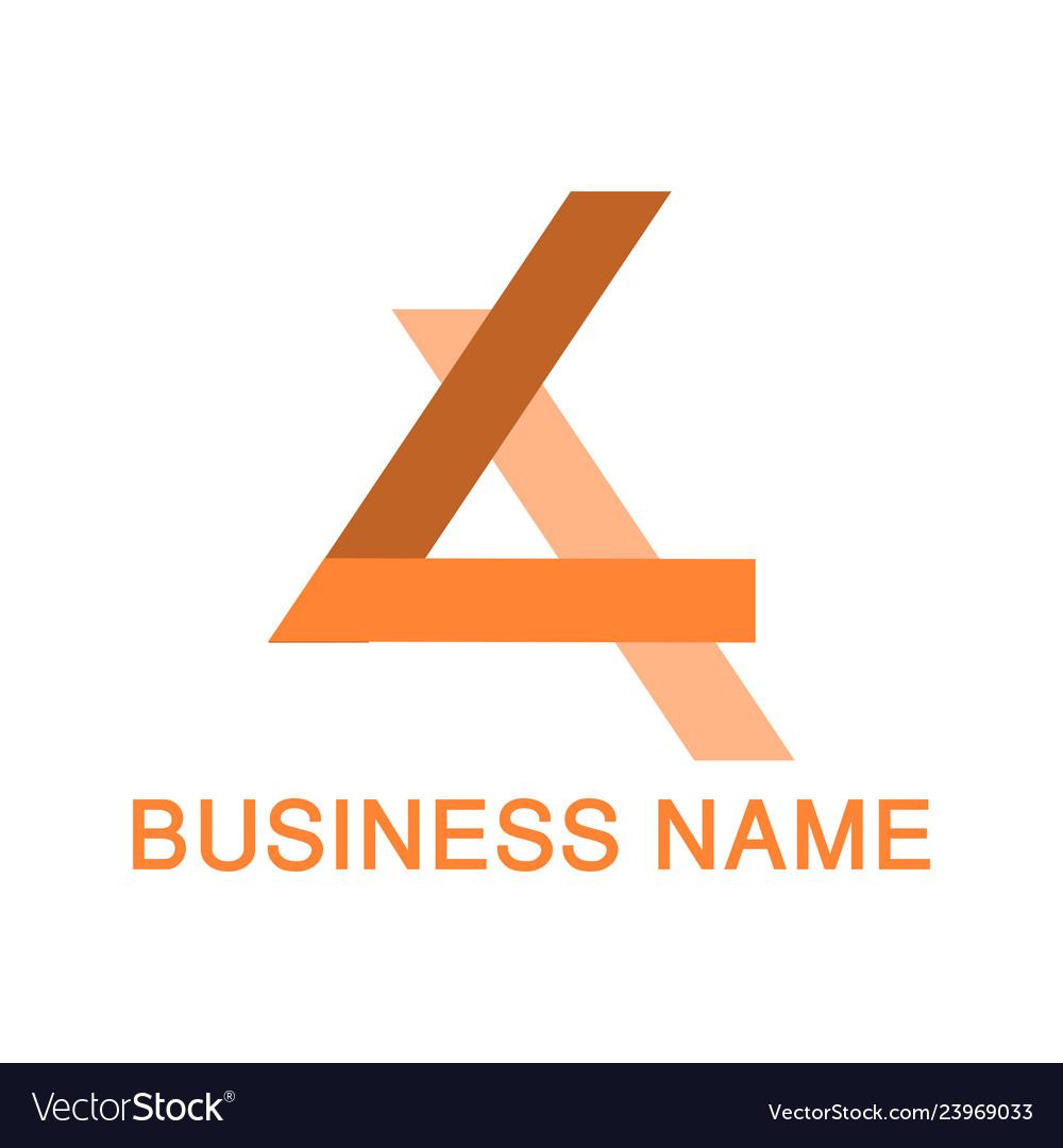 Triangle logo design concept template