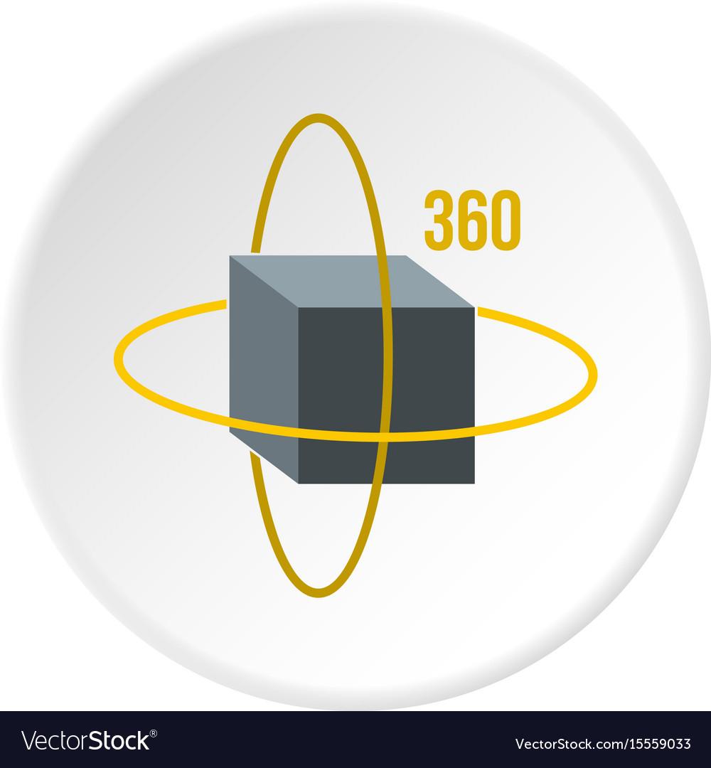 Virtual cube icon circle