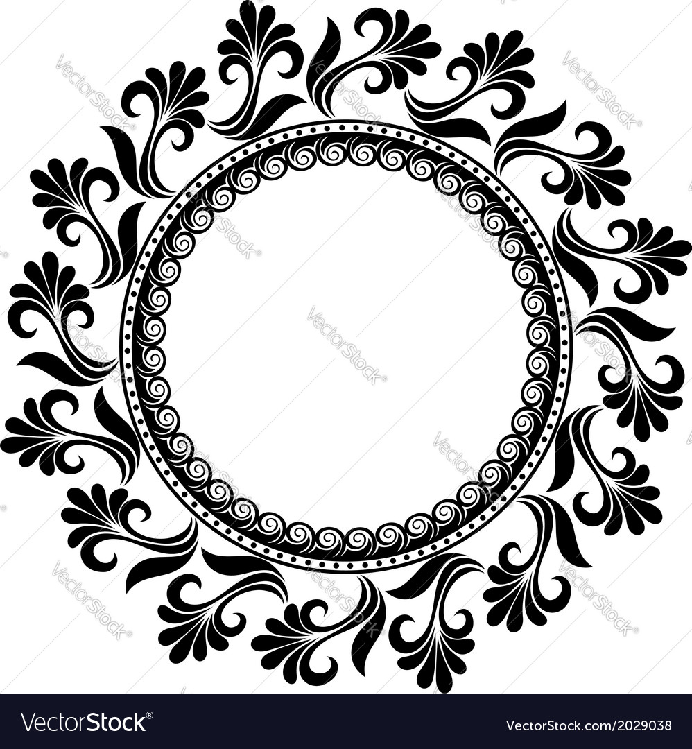 beautiful deco floral circle royalty free vector image rh vectorstock com floral pattern vector illustration floral pattern vector all free download
