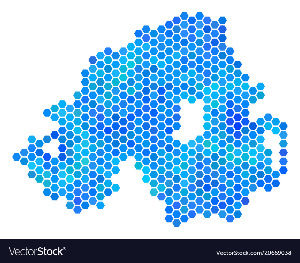 Map Of Ireland Northern Ireland.Blue Hexagon Northern Ireland Map