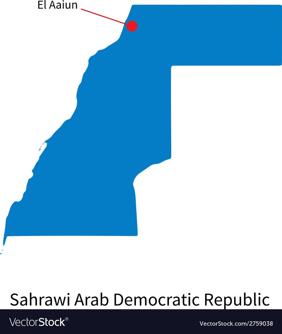 Detailed map of Sahrawi Arab Democratic Republic