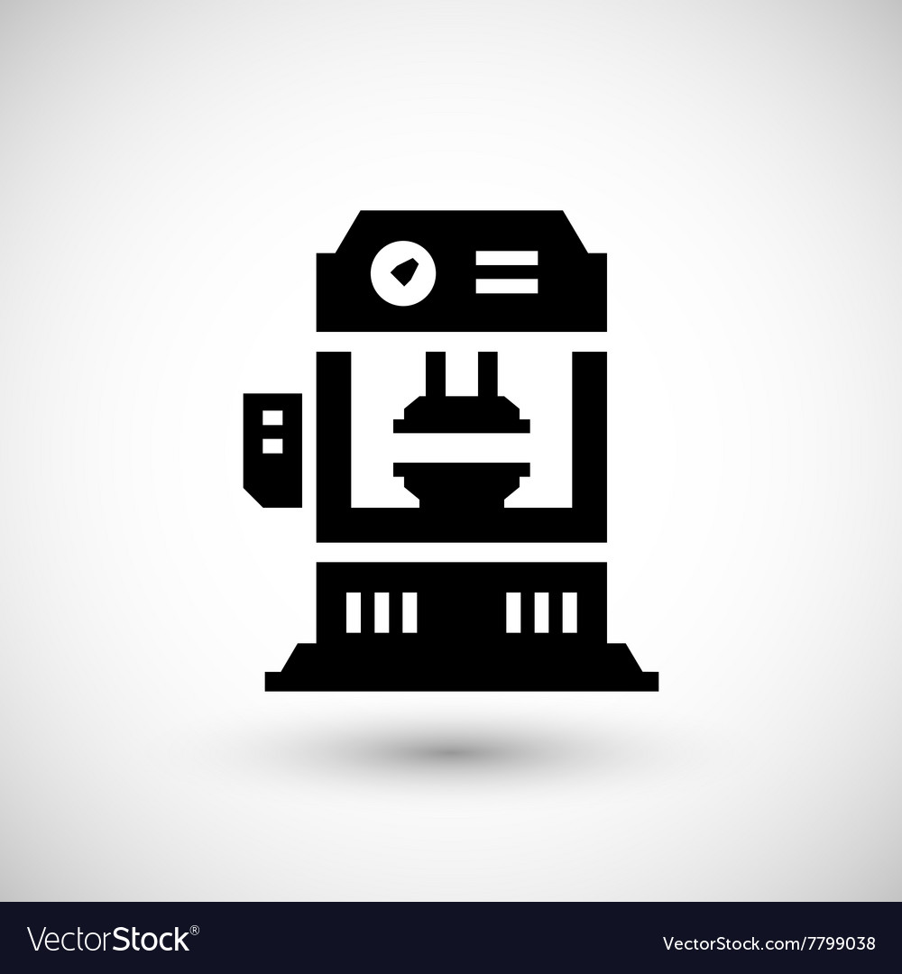 Vector Machine Icon Press Hydraulic Image Royalty Free