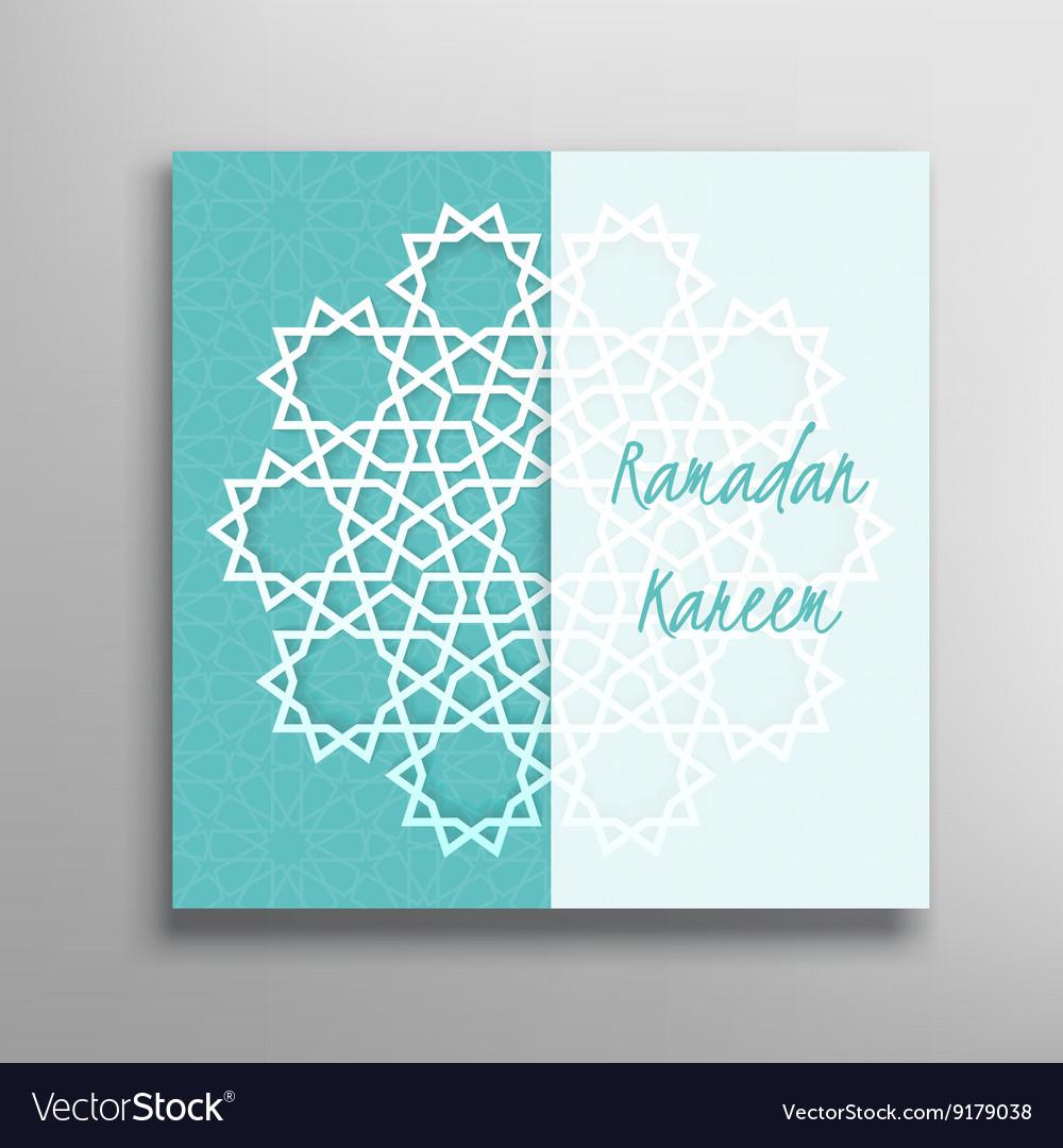 Islamic ramadan greeting card royalty free vector image islamic ramadan greeting card vector image m4hsunfo