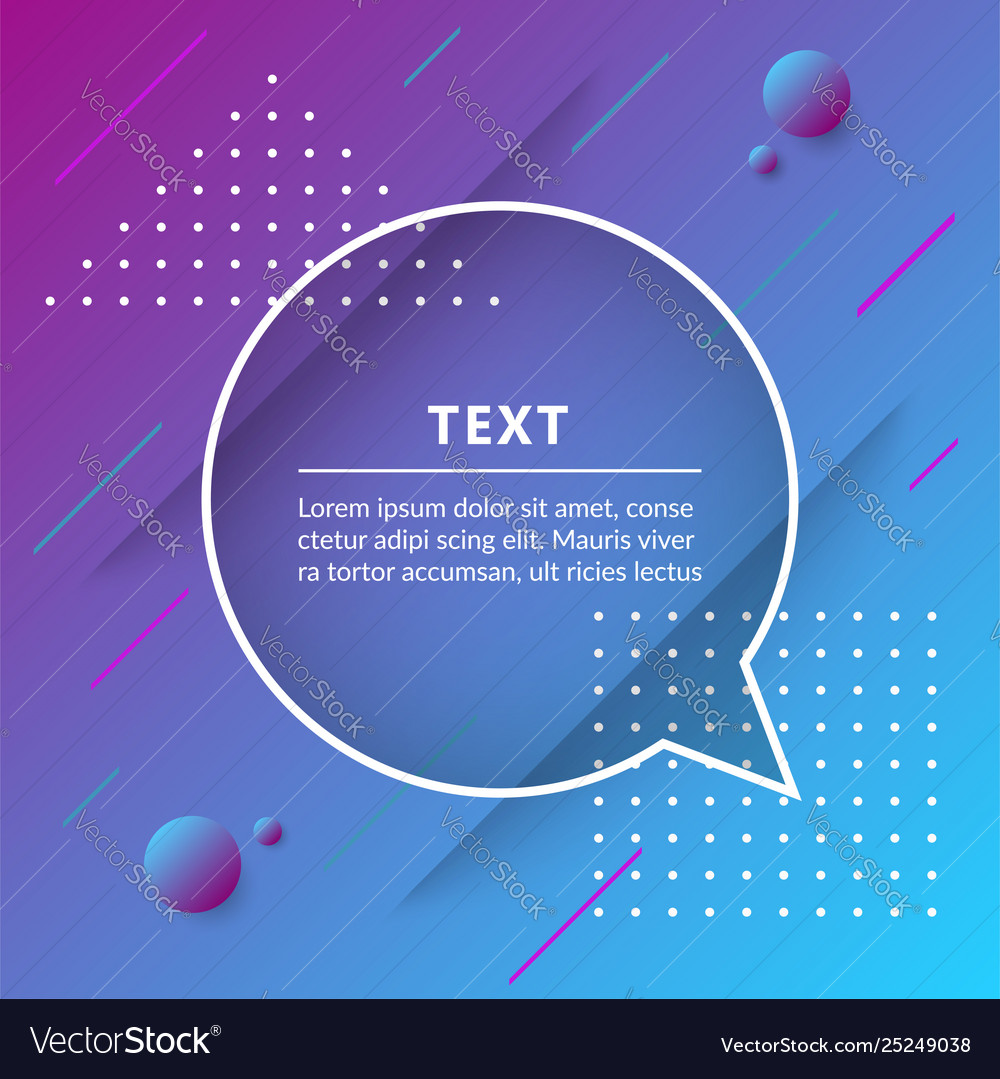 Quote box isolated on trendy geometric background