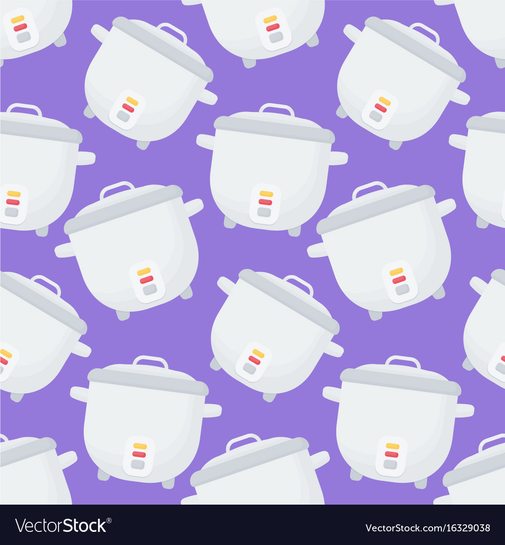 Rice cooker seamless pattern