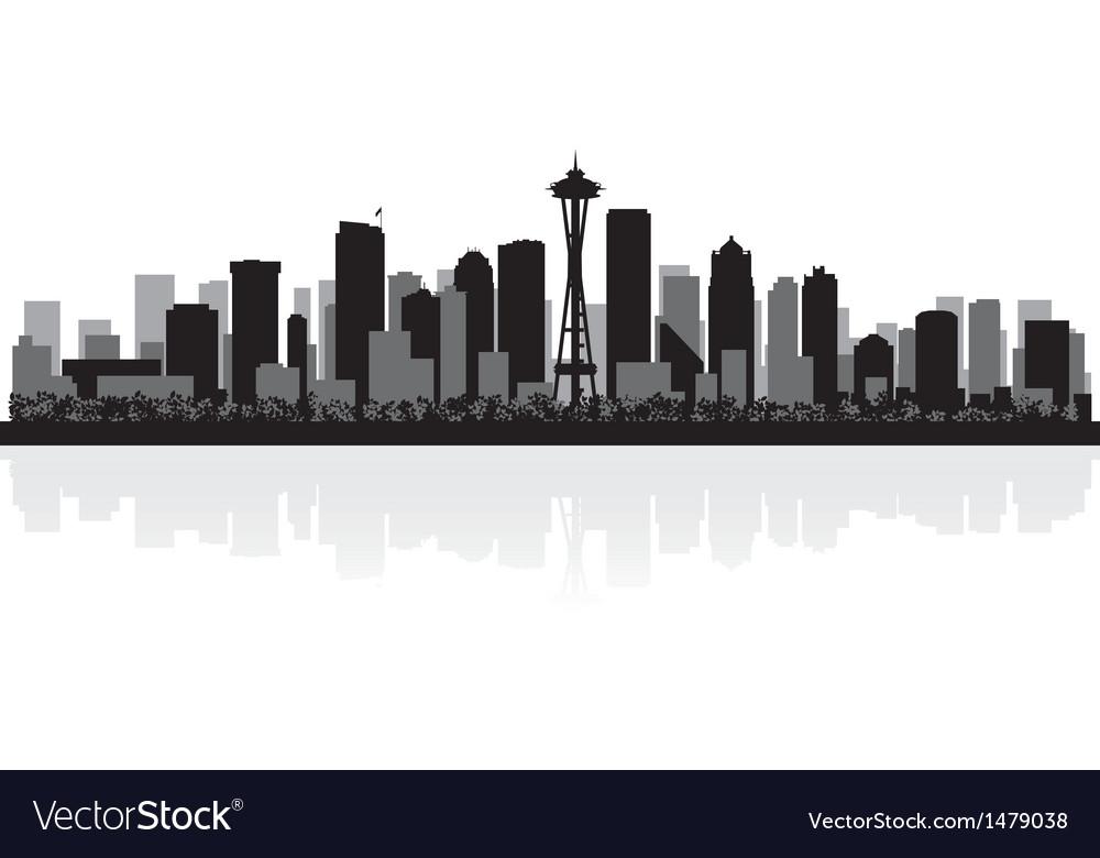 seattle usa city skyline silhouette royalty free vector rh vectorstock com free seattle skyline logo vector free seattle skyline logo vector
