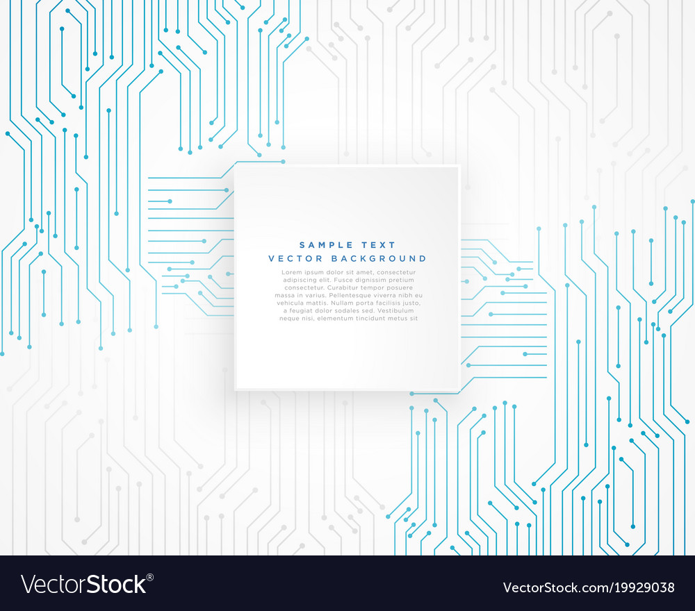 Technology Blue Circuit Diagram Background Vector Image