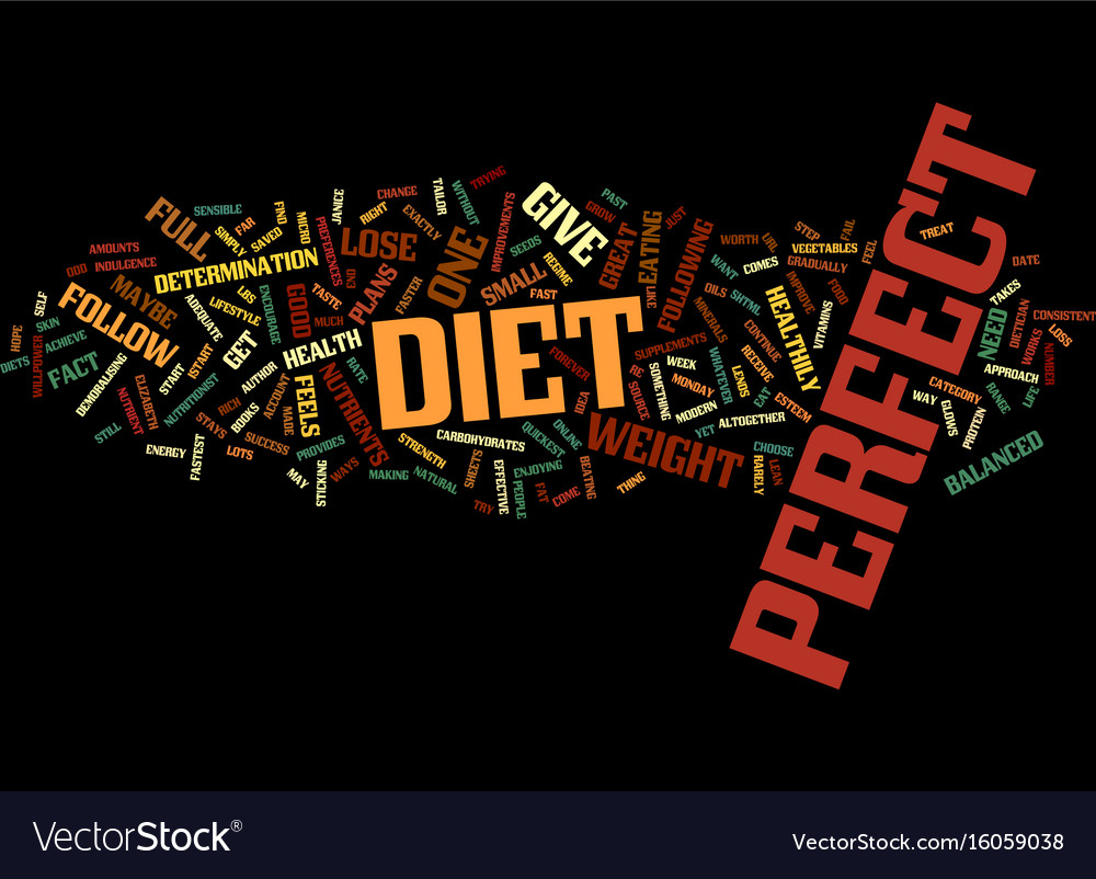 The perfect diet to lose weight fast text