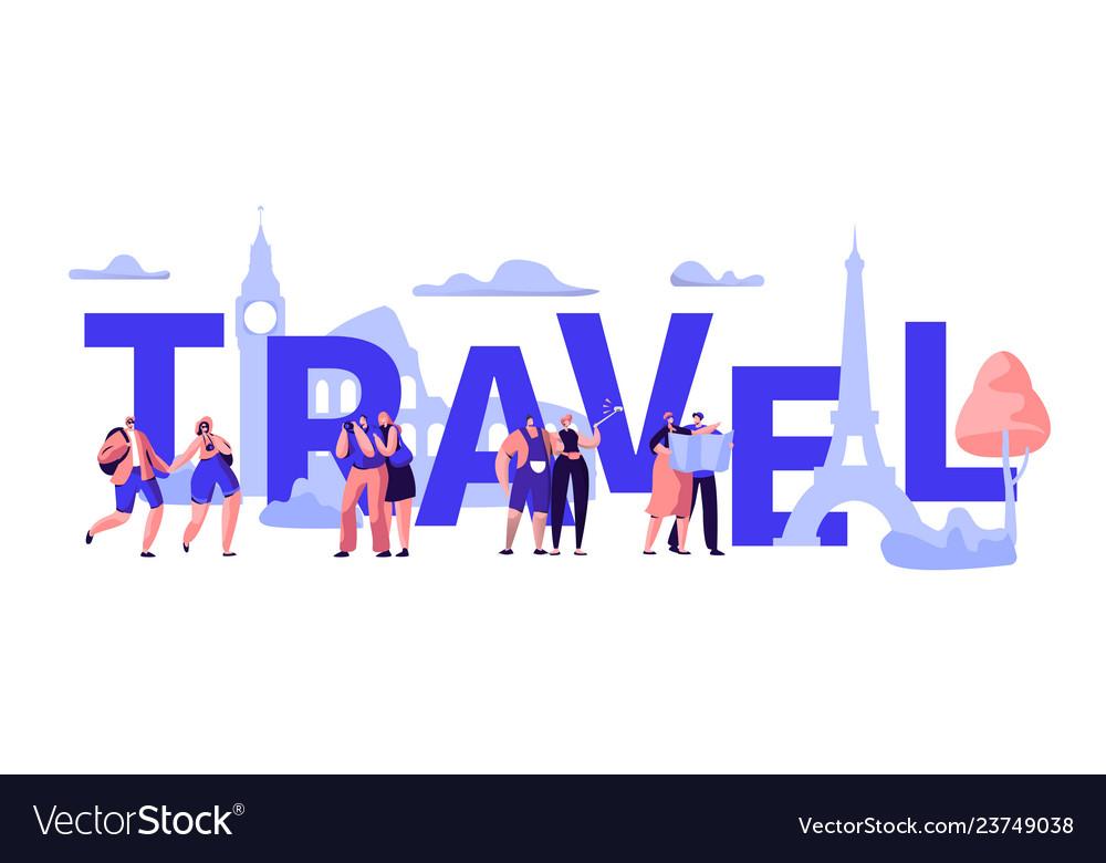World travel tour business banner design