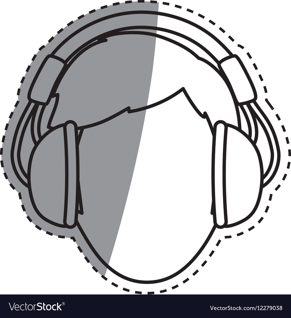 Young person with headphones