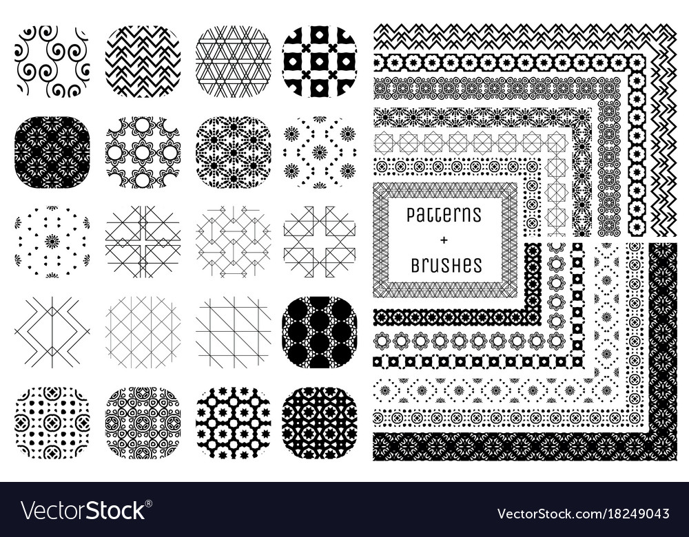 20 geometric patterns and 12 pattern