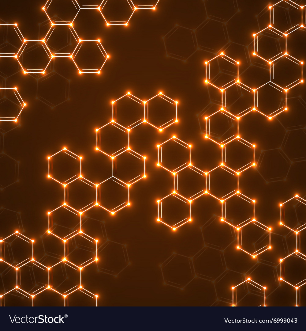 Abstract molecular structures Technology vector image