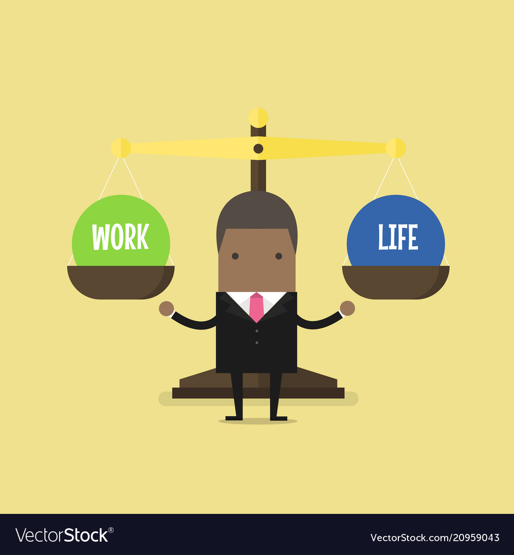 African businessman balance work and life