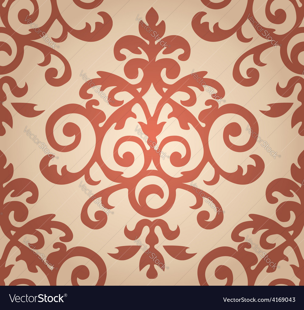 Damask floral pattern The wallpaper in Baroque