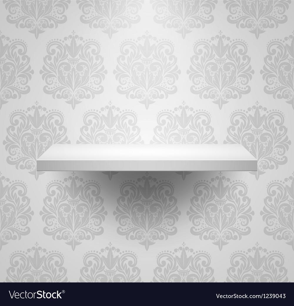 Empty isolated shelf