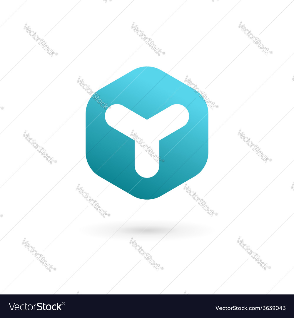 Letter Y cube logo icon design template elements vector image