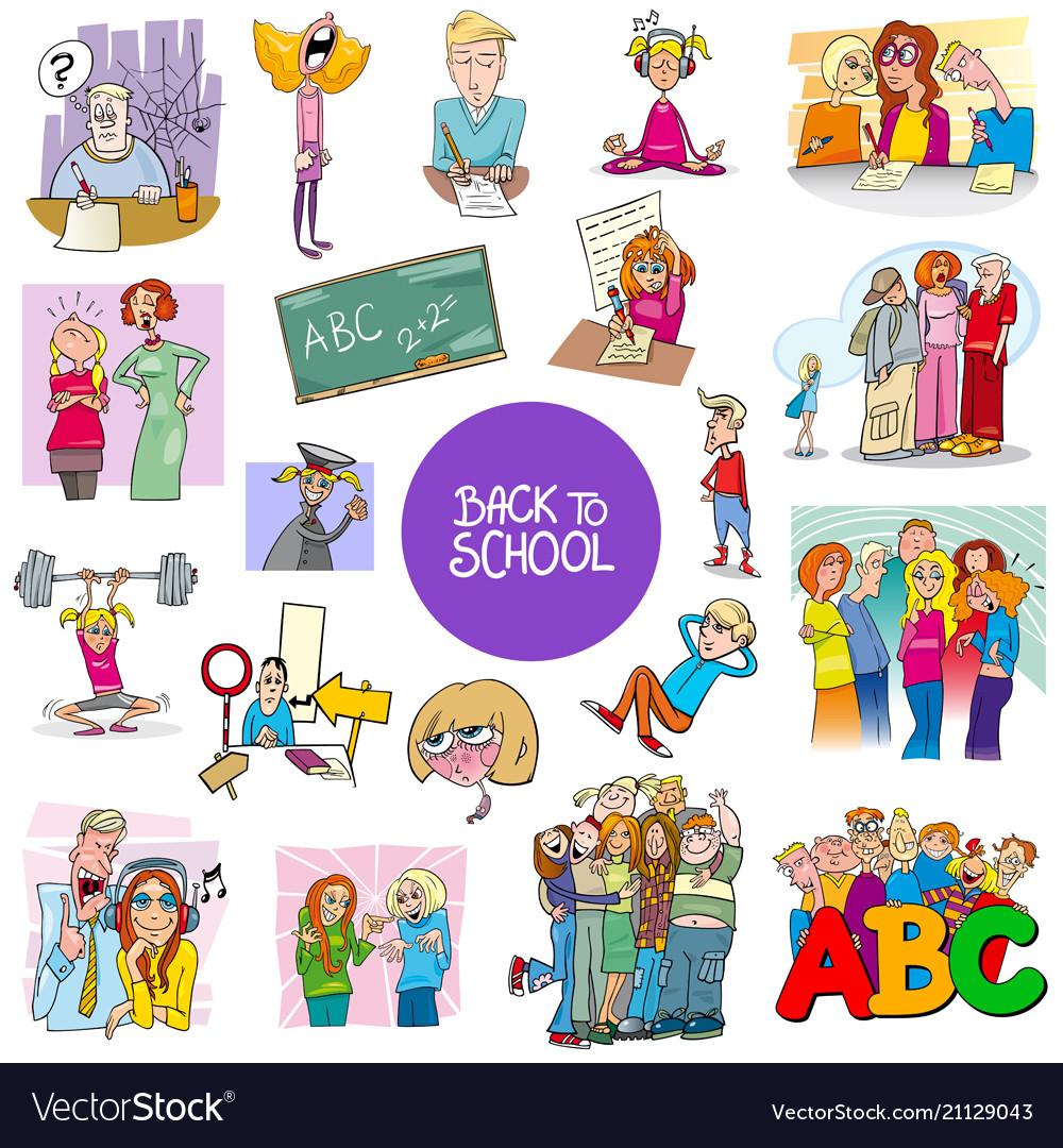 School and education carton set