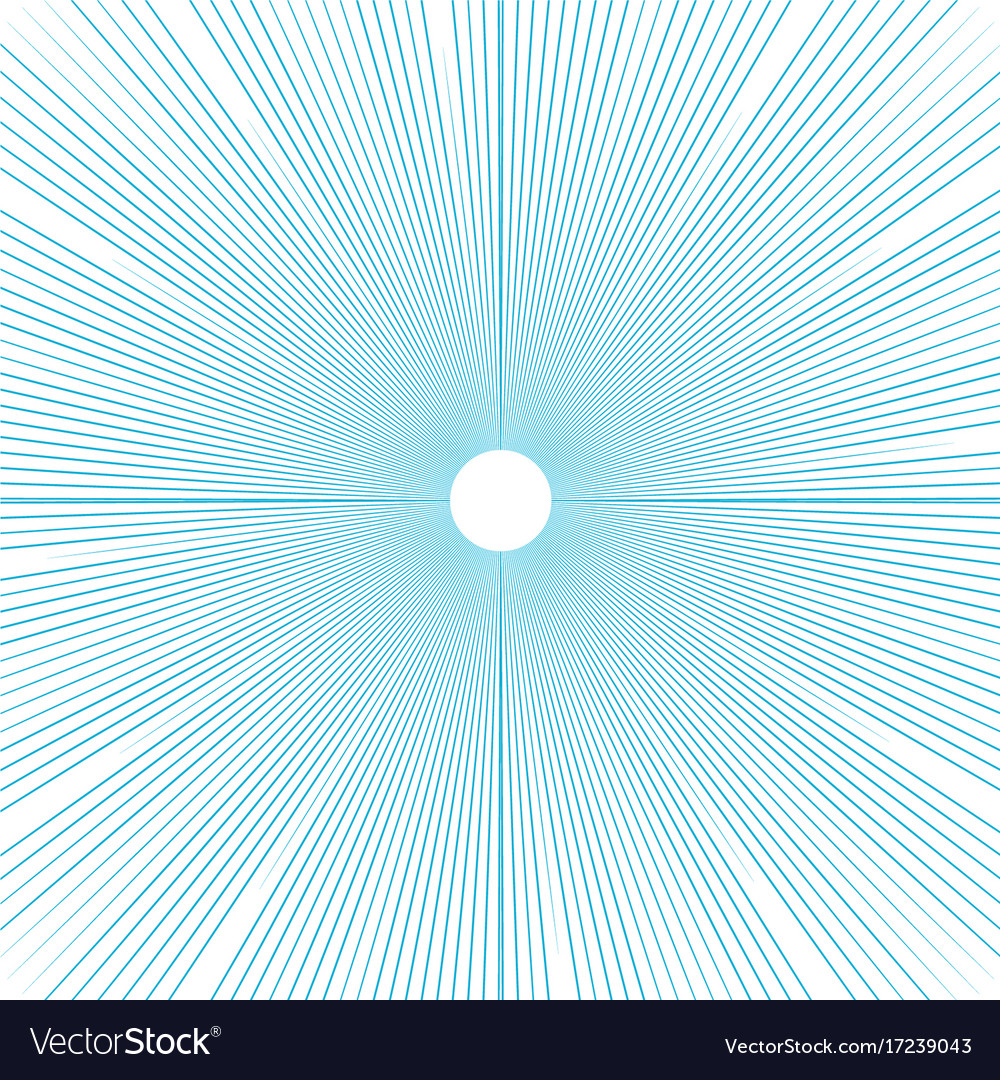 Sunburst background thin blue radial lines vector image