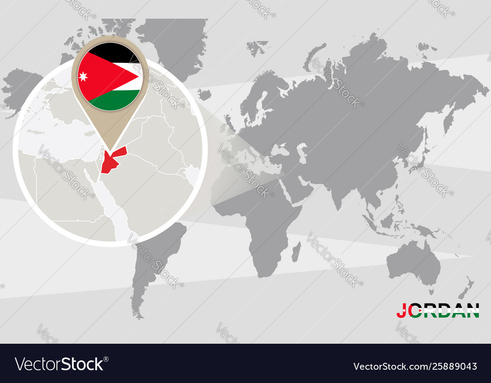 jordan on the map of the world