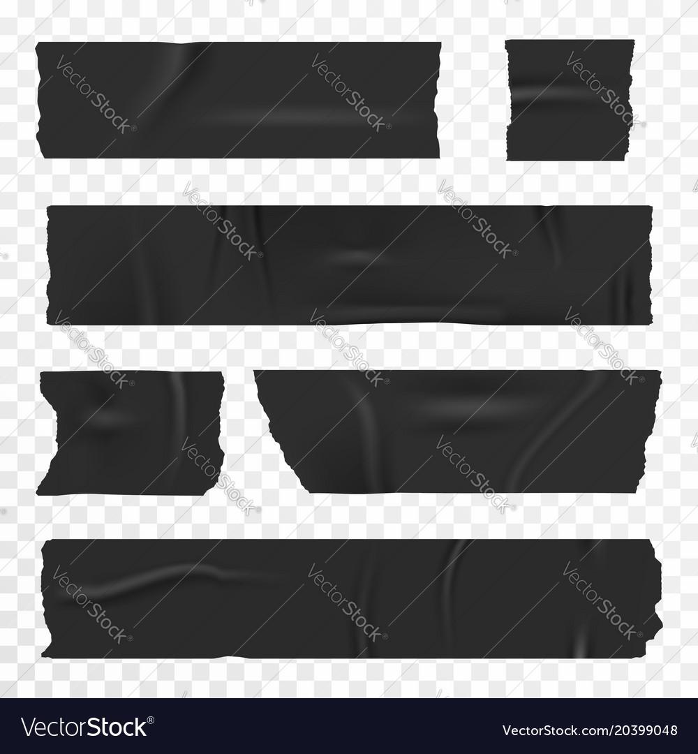 Adhesive tape set on transparent background