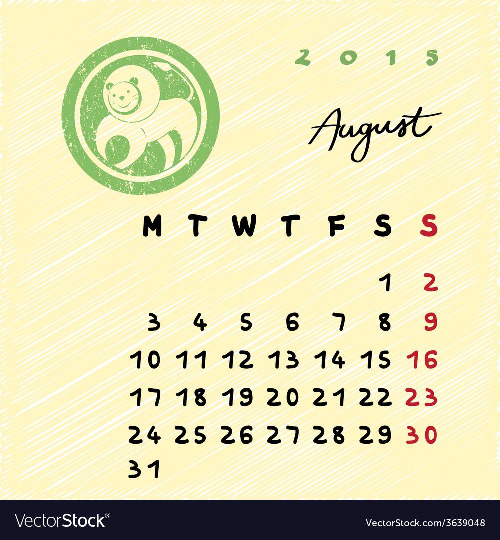 August 2015 zodiac vector image