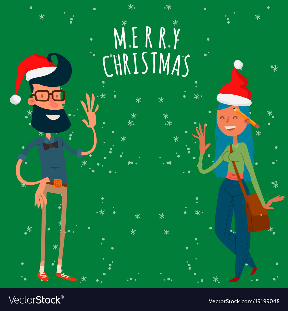 Christmas greeting card business people royalty free vector christmas greeting card business people vector image m4hsunfo