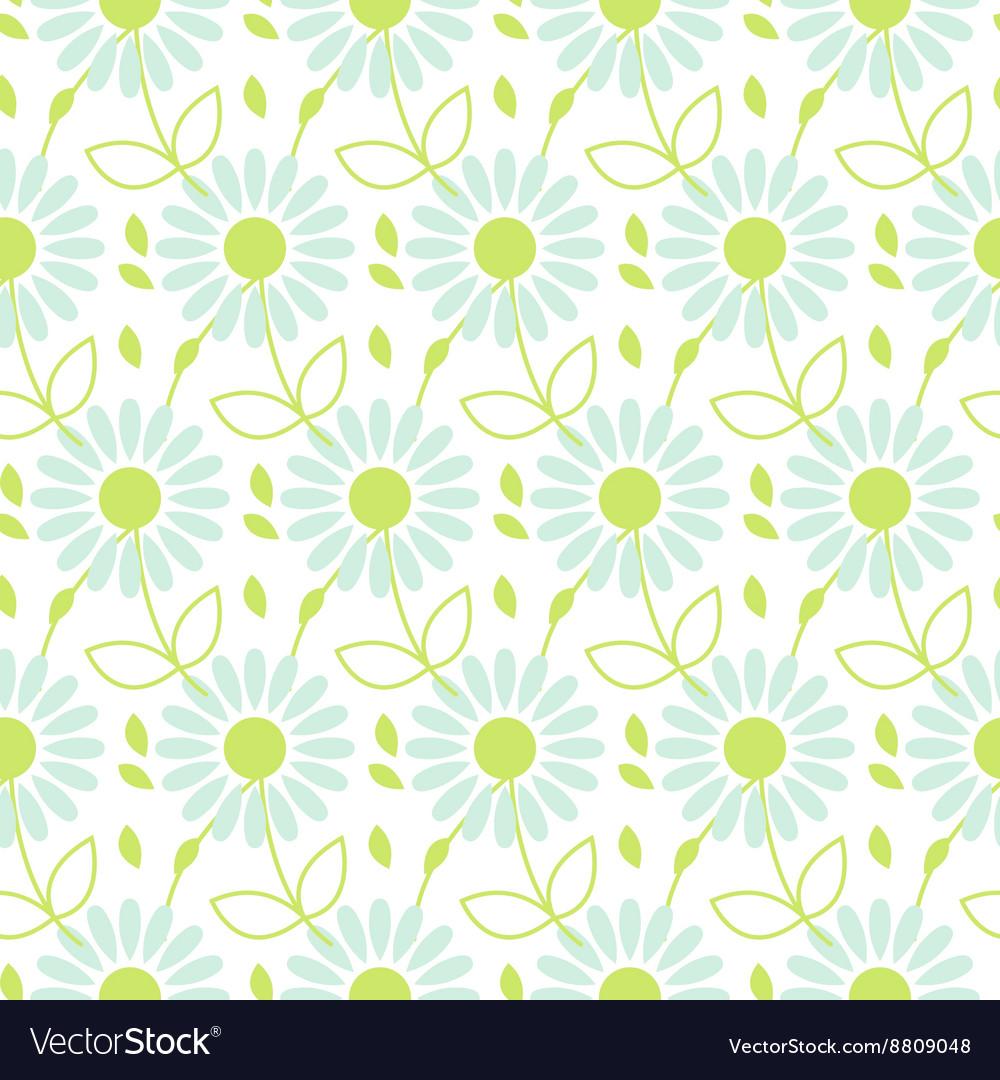 Daisy chamomile seamless pattern