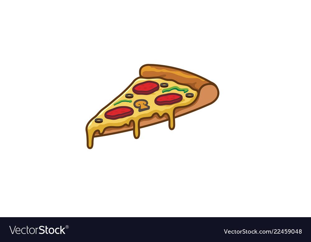 Delicious pizza slice logo