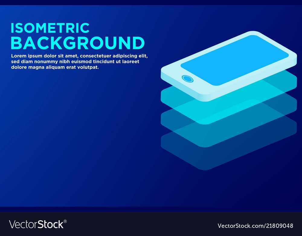 Isometric smart phone background