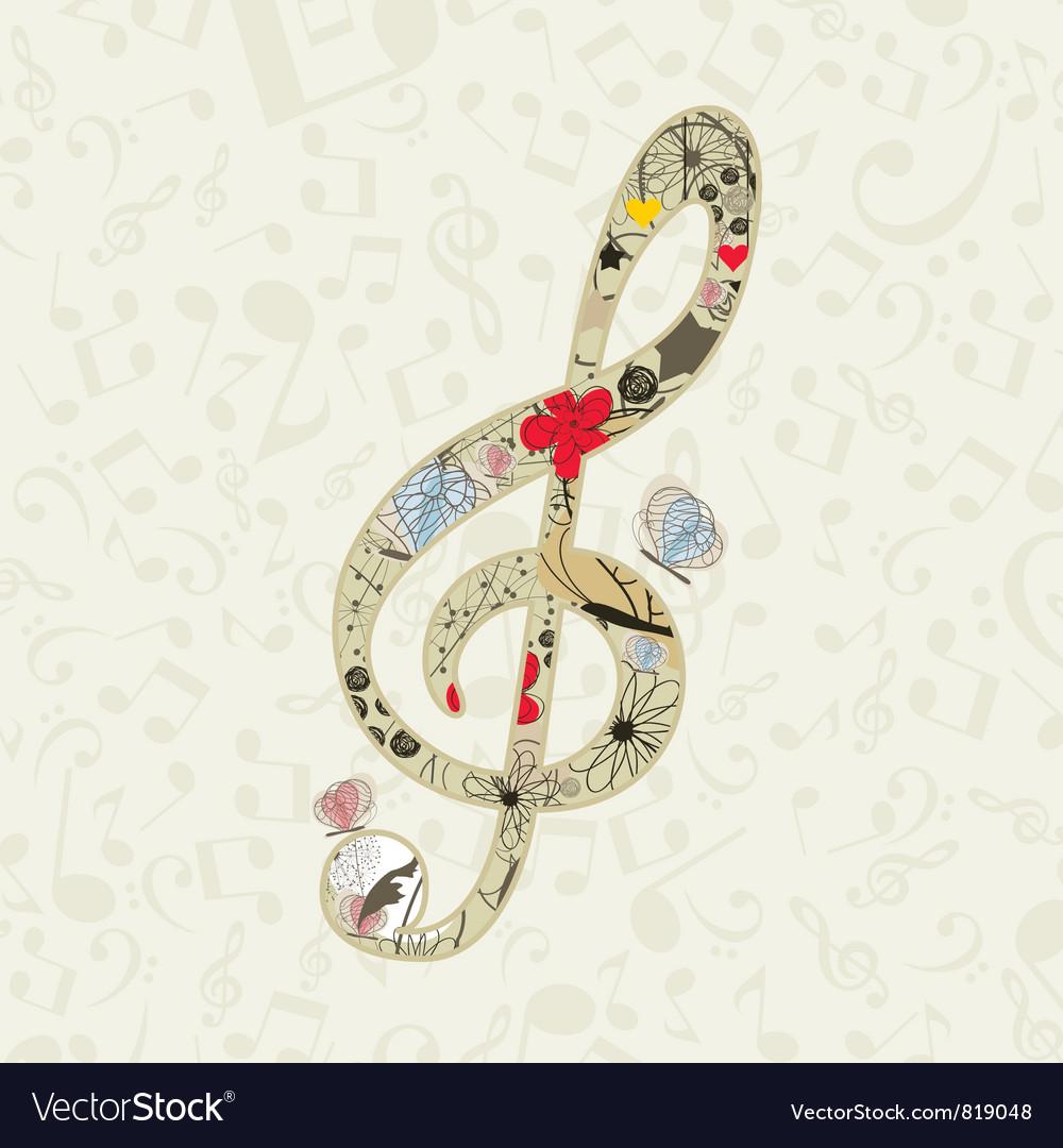 Musical key vector image