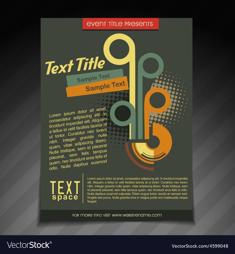 stylish retro brochure design royalty free vector image