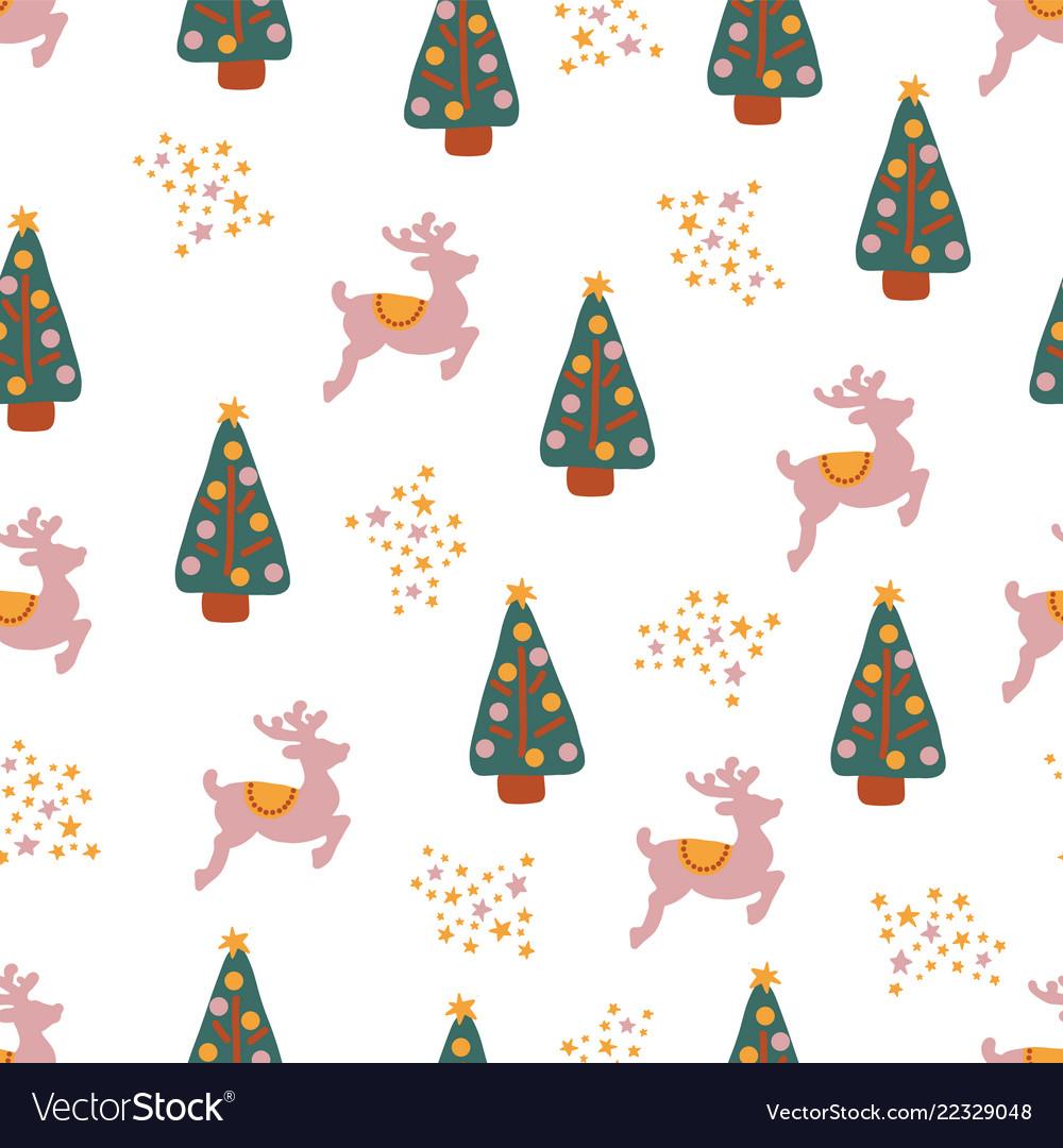 Winter holidays seamless repeat pattern