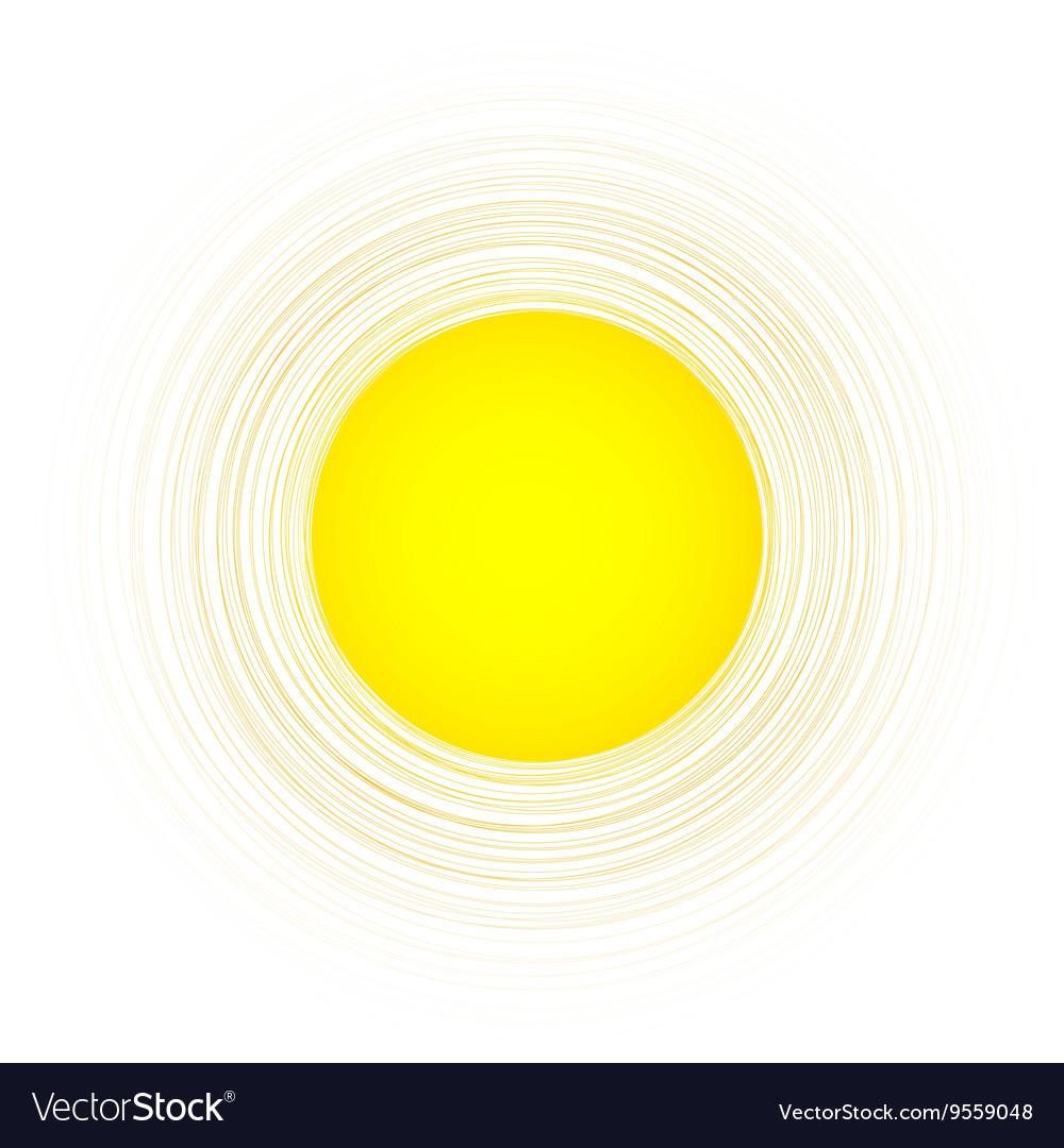 Yellow round background vector image