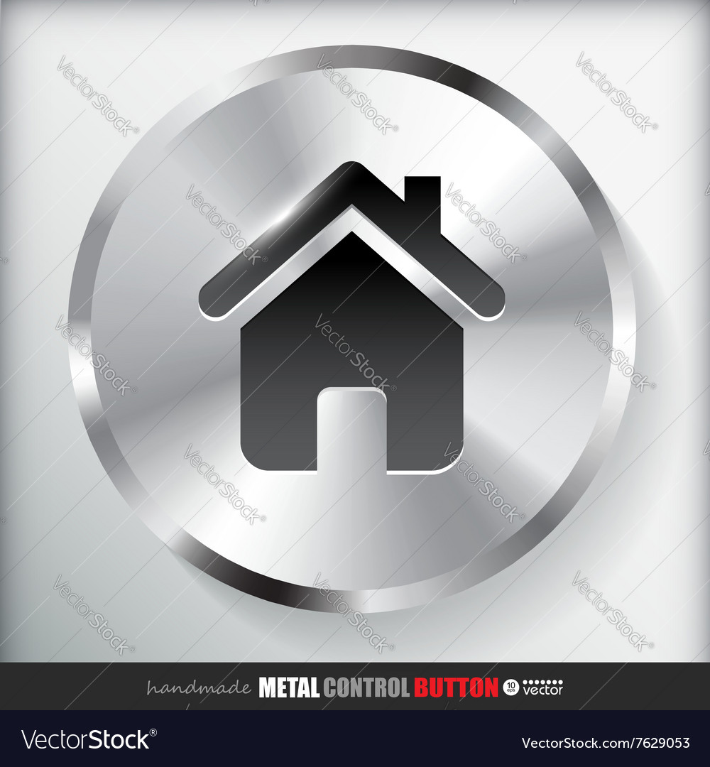 Circle Metal Home Button