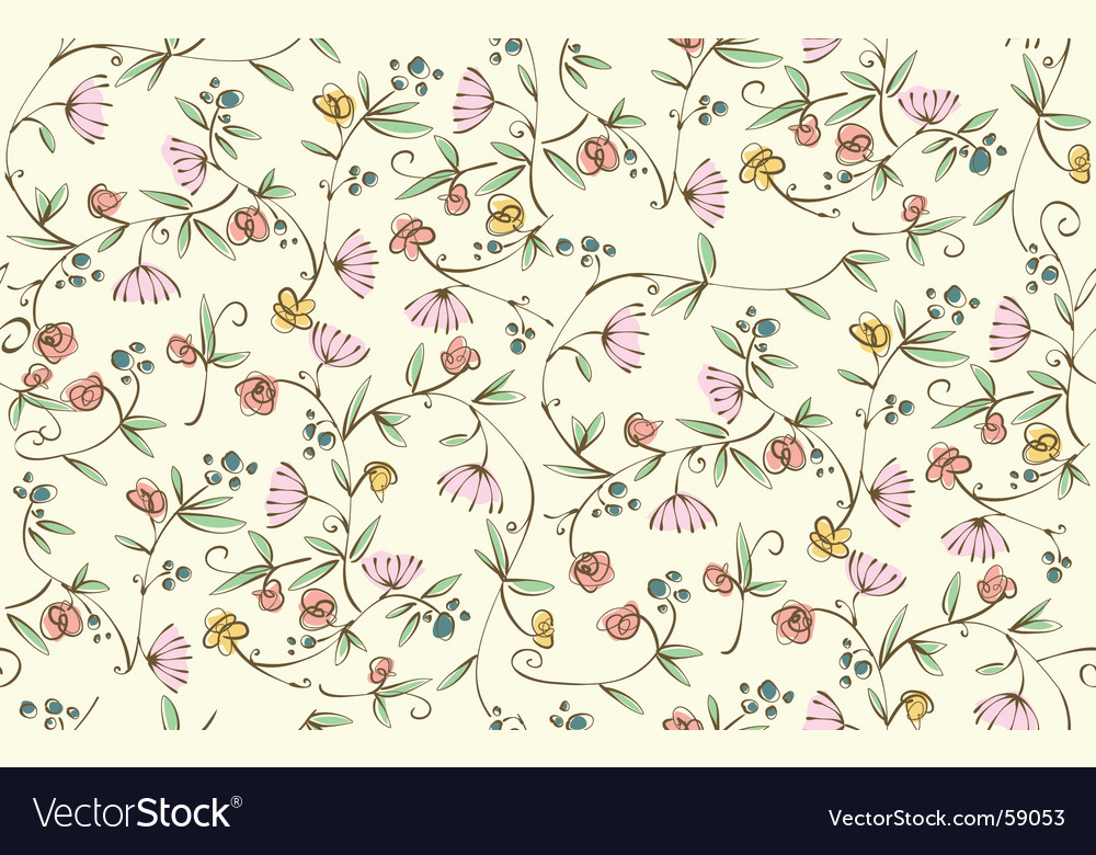 Ditsy floral seamless wallpaper