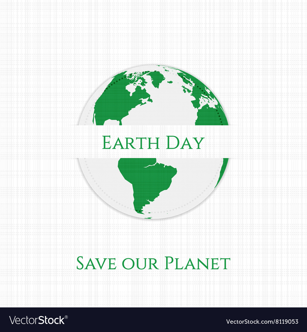 Earth Day Planet textile Banner