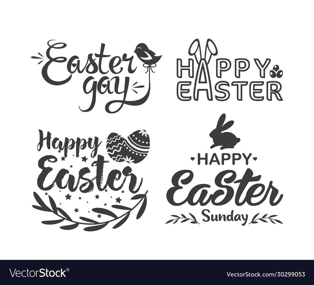 Easter hand drawn lettering logo