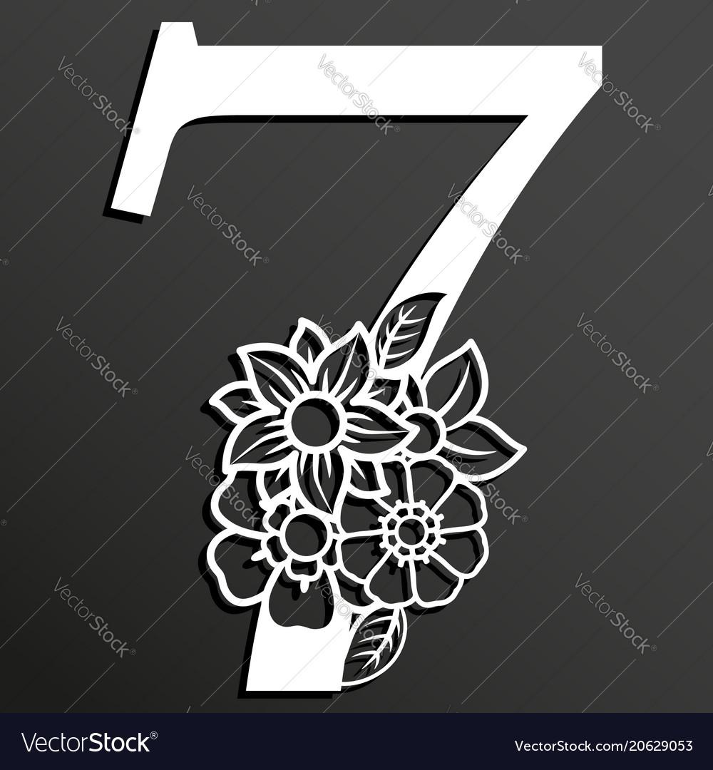Floral number 7