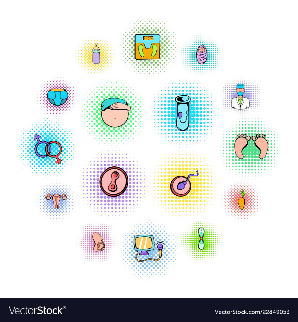 Gynecology icons set vector