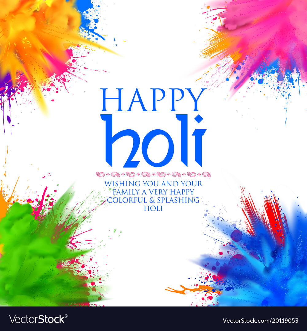 Happy holi background for color festival of india