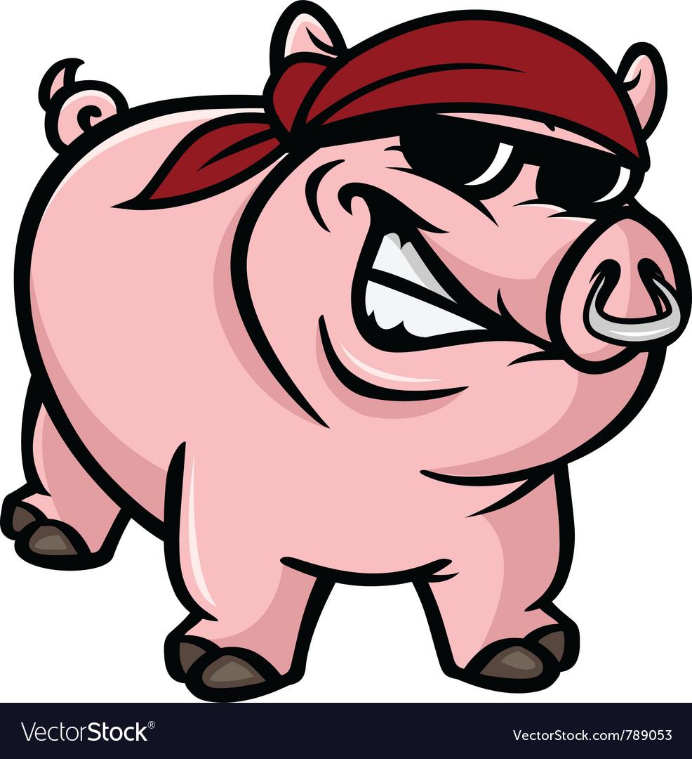 Hog wild vector image