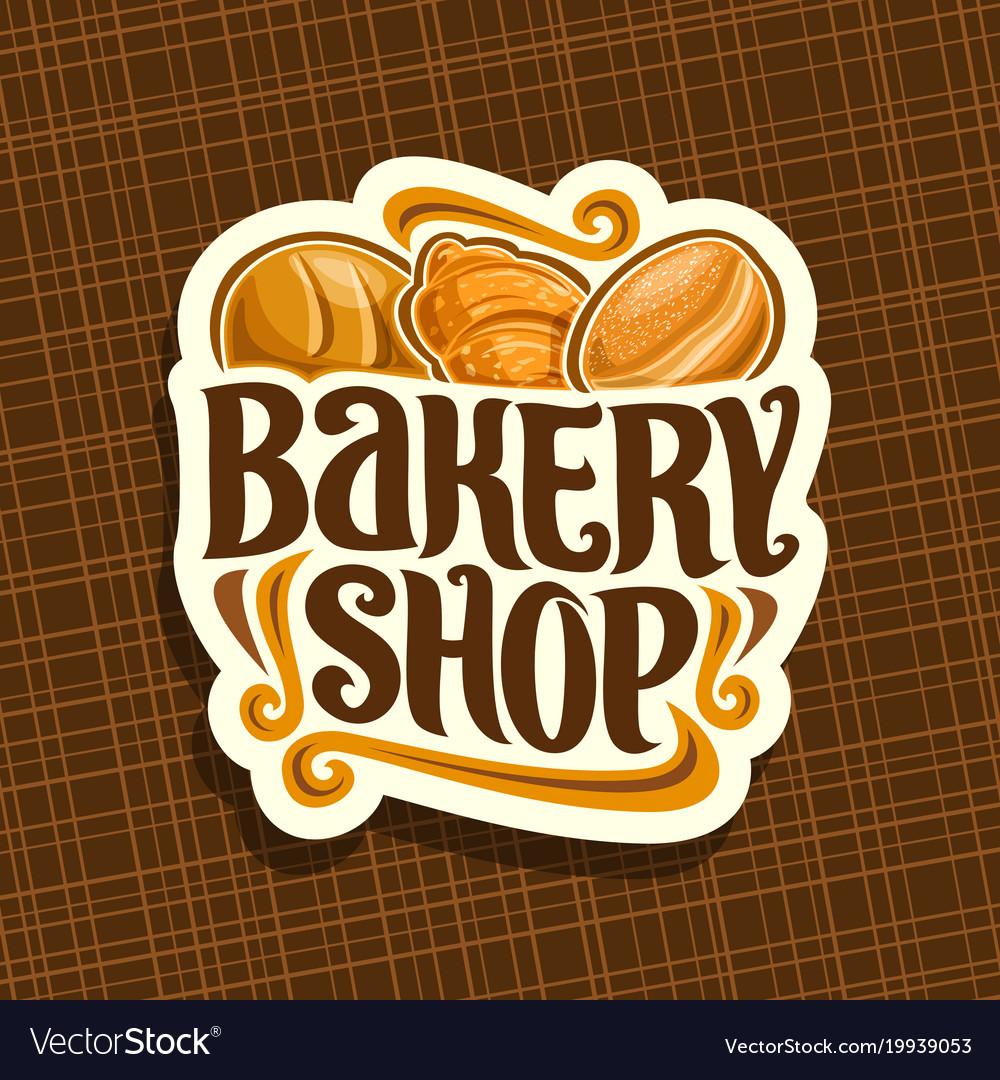 Logo for bakery shop vector image