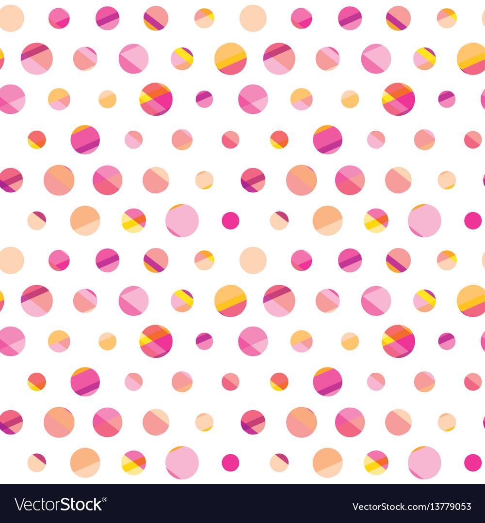 Modern polka dot seamless pattern concept surface