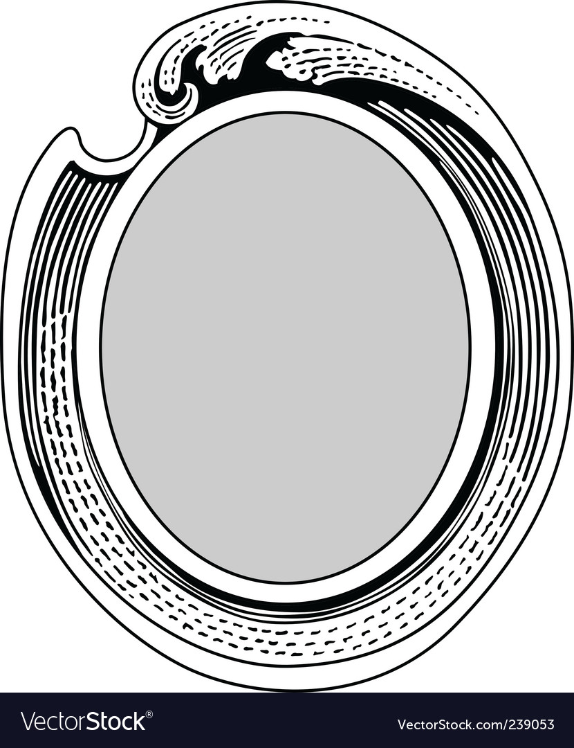 Oval ornate frame Royalty Free Vector Image - VectorStock