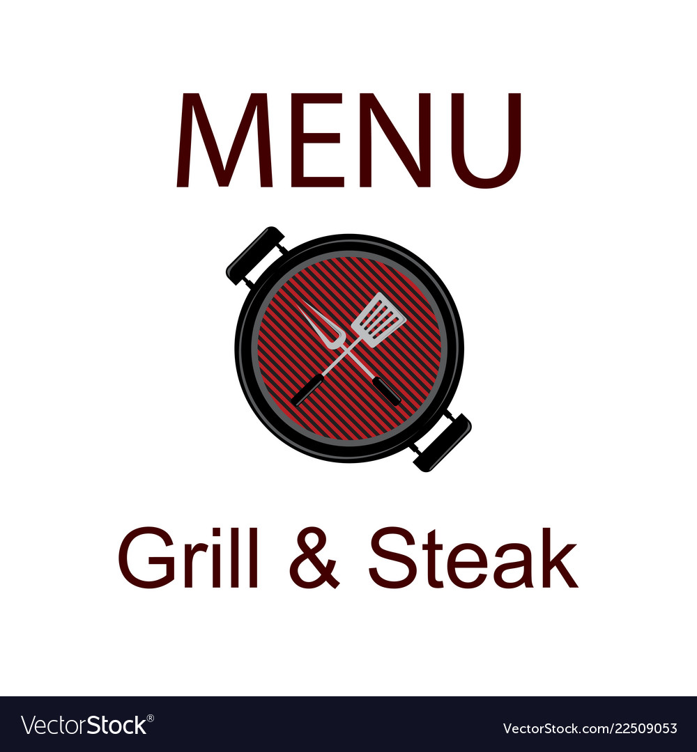 Sticker baner or logotype barbecue on grill grill