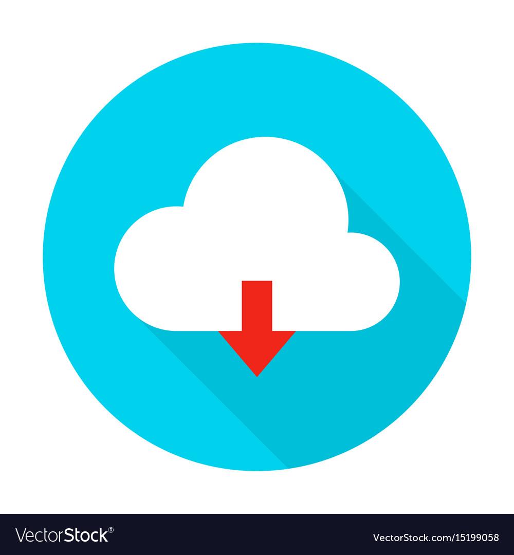 Cloud upload flat circle icon